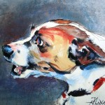 Jack Russell - mixed media