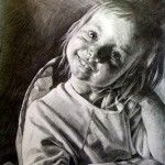 a pencil portrait done from a photograph