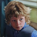 portrait of a boy in oils